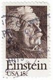 Stamp with Albert Einstein royalty free stock image