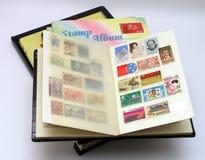 Stamp album stock photos