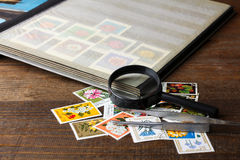 Stamp album Stock Photo