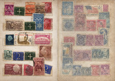 Stamp Album Pages Set. Scans of an old stamp Album, scanned at 1200 dpi (optical resolution) re-sampled bicubic sharper in photoshop Royalty Free Stock Images