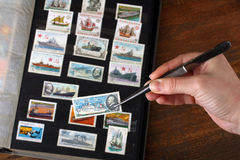 Stamp album Stock Images