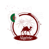 Stamp Algeria Royalty Free Stock Photo