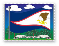 Stamp American Samoa Stock Image