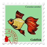 Stamp with animal Stock Photography