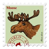 Stamp with animal Royalty Free Stock Photography