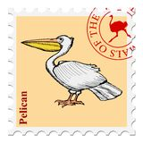 Stamp with animal Royalty Free Stock Image