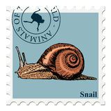 Stamp with animal Royalty Free Stock Images