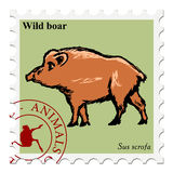 Stamp with animal Stock Image