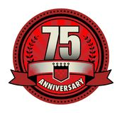 Stamp 75 anniversary. Vector illustration Royalty Free Stock Images