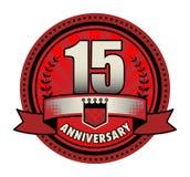Stamp 15 anniversary. Vector illustration Vector Illustration