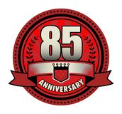 Stamp 85 anniversary. Vector illustration Stock Images