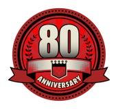 Stamp 80 anniversary. Vector illustration vector illustration