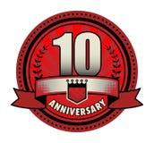 Stamp 10 anniversary. Vector illustration vector illustration