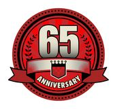 Stamp 65 anniversary. Vector illustration royalty free illustration