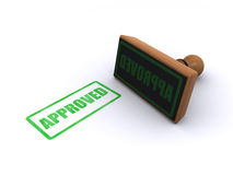Stamp approved. Rubber stamp with the word approved on a white background Stock Images