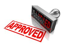 Stamp approved Royalty Free Stock Photography