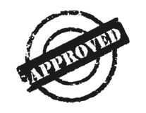 Stamp 'Approved'. An effective way to show the approval of something Stock Image