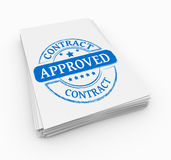 Stamp approved Stock Image