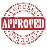 Stamp Approved Success Stock Image