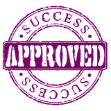 Stamp Approved Success Stock Photos