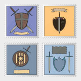 Stamp with armoury Stock Image