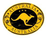 Stamp - Australia. Vector stamp with kangaroo inside - Australia Royalty Free Stock Photos
