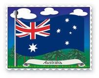 Stamp Australia vector illustration