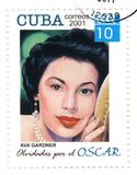 Stamp with Ava Gardner. Stamp with great american actresses Ava Gardner Stock Image