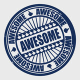 Stamp awesome Royalty Free Stock Image
