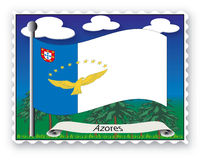 Stamp Azores Royalty Free Stock Photography