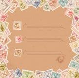 Stamp background vector illustration