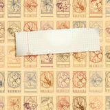 Stamp background with paper royalty free illustration