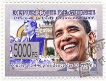 Stamp with Barack Obama Stock Images