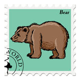 Stamp with bear Stock Images