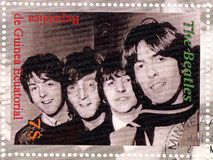 Stamp with Beatles. Stamp with famous group The Beatles royalty free stock photos