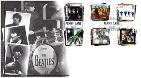 Stamp with The Beatles vector illustration