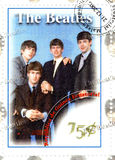 Stamp with The Beatles stock images