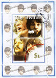 Stamp with The Beatles stock photos