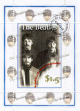Stamp with Beatles stock image