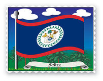 Stamp Belize Stock Photos