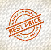 Stamp for best price Stock Photography