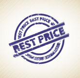 Stamp for best price Stock Image