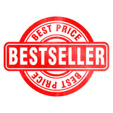 Stamp of Bestseller. Red, round Royalty Free Stock Photos