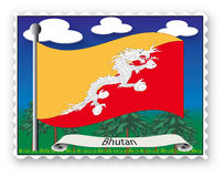 Stamp Bhutan Stock Images