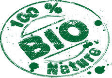 Stamp bio. Rubber stamp named bio related to natural products Stock Photography