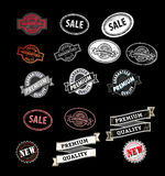Stamp black Royalty Free Stock Images