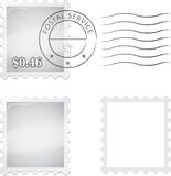 Stamp. Blank postage stamp. Easily add an illustration or picture to the stamp. Illustration contain transparencies and is saved as Illustrator 10 format Royalty Free Illustration