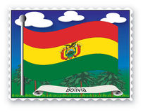 Stamp Bolivia Royalty Free Stock Photos