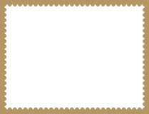 Stamp Border. Illustration of Postage Stamp Frame Background With Shadows Royalty Free Stock Photos