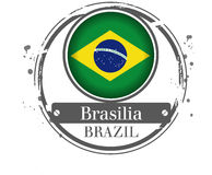 Stamp Brasilia Royalty Free Stock Photos
